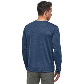Patagonia Cap Cool Daily Graphic LS Shirt Herr line logo ridge/stone blue x-dye